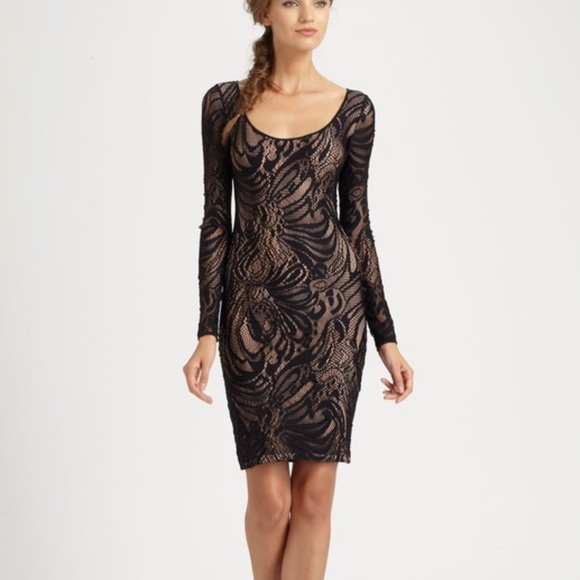 BCBG Dresses & Skirts - BCBG Black Lace Tanya Bodycon Dress